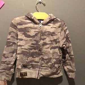 Polo by Ralph Lauren Boys grey camo zip hoodie